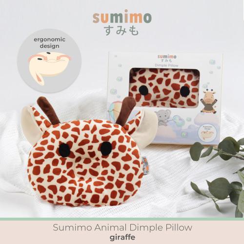 Foto Produk Sumimo Animal Dimple Pillow Ergonomic Bantal Peang/Peyang Super Pluffy - Giraffe dari Gisnicbaby Official