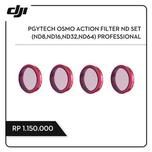 Foto Produk PGYTECH OSMO ACTION FILTER ND SET (ND8,ND16,ND32,ND64) PROFESSIONAL dari DJI Authorized Store JKT