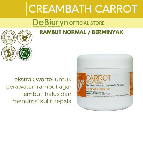 Foto Produk DeBiuryn CARROT Traditional Scientific Hair Creambath 350gr dari Debiuryn Dermacosmetics