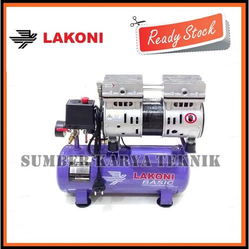 Foto Produk Mesin Kompresor Lakoni Basic 9S Pumpa Angin Oilles Silent 0.75HP 3/4HP dari Sumber Karya Teknik JKT