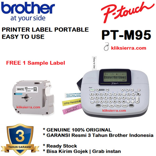 Foto Produk BROTHER Label Printer PTouch PT-M95 Portable Handy Label Maker dari kliksierra