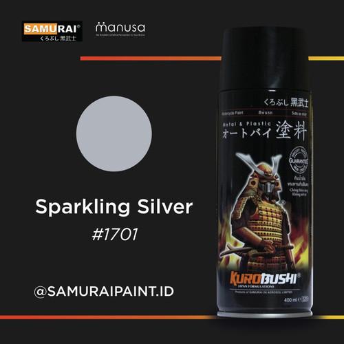 Foto Produk Samurai Paint Metallic Sparkling Silver 1701 Metallic Silver dari BKO Wooden shop