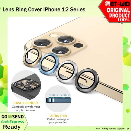 Foto Produk Ring Lensa Kamera iPhone 12 Pro Max 12 Pro 12 Mini Tempered Glass - iPhone 12 Pro, Silver dari GET-WID Official