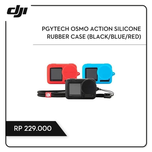 Foto Produk PGYTECH OSMO ACTION SILICONE RUBBER CASE (BLACK/BLUE/RED) dari DJI Authorized Store JKT