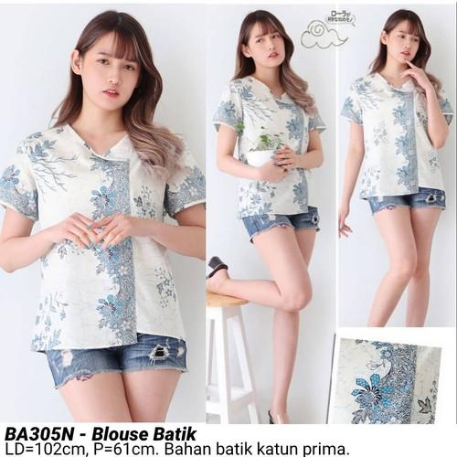 Foto Produk BLOUSE SAFI BATIK CANTIK MODERN ATASAN CEWEK BAJU WANITA CANTIK MURAH - Biru Muda dari Ace Sakura Fashion