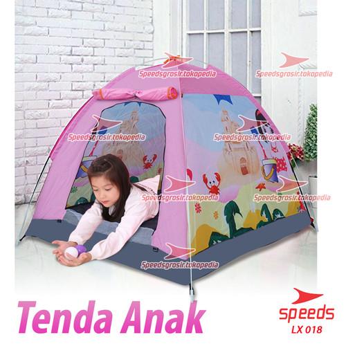 Foto Produk Tenda Anak Karakter Kartun Camping Outdoor Indoor Otomatis 018-15 - Pink dari Speeds Official Store