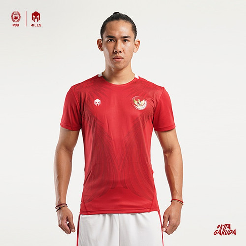 Foto Produk MILLS Timnas Indonesia Jersey Home Player Issue 1017GR Red - Merah, XXL dari MILLS Official