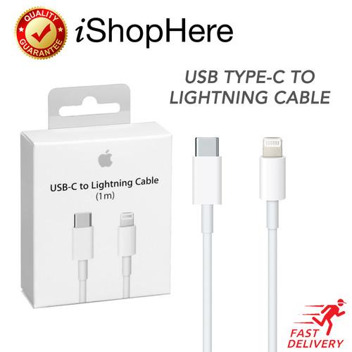 Foto Produk Kabel Charger Data Lightning to USB Type C Cable iPhone Original Apple dari iShop Here