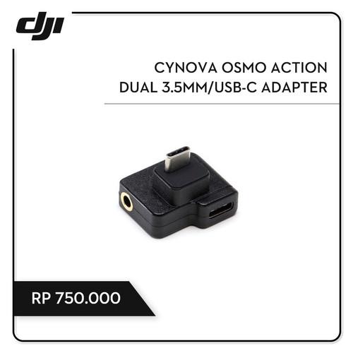 Foto Produk CYNOVA Osmo Action Dual 3.5mm/USB-C Adapter dari DJI Authorized Store JKT