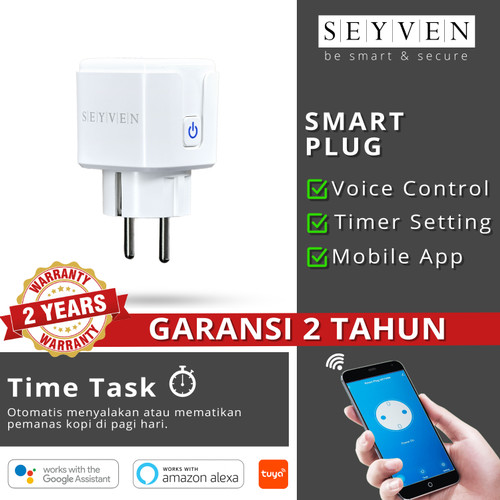 Foto Produk SEYVEN Smart PLUG WiFi Wireless Colokan Smartplug - IoT Smart Home dari SEYVEN