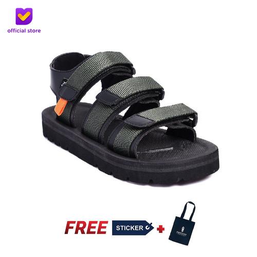 Foto Produk Sandal Outdoor Pria Footstep Footwear - Sandal Crown 0.2 Green Army - Green Army, 41 dari Footstep Footwear