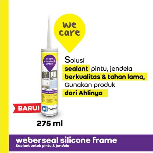 Foto Produk MU Weber Weberseal Silicone Frame Sealant Pintu & Jendela 275 ml White dari BKO Wooden shop