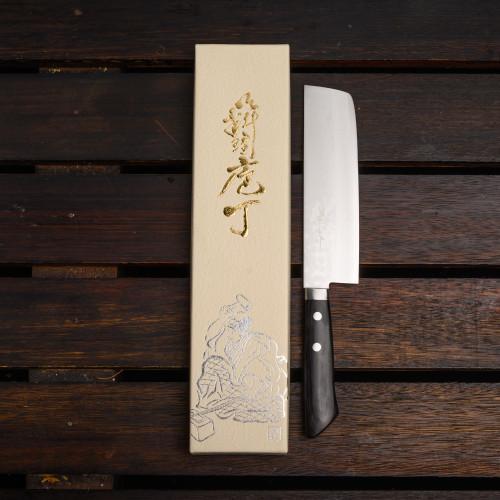 Foto Produk Masutani Hamono VG10 Damascus 165mm Nakiri Japanese Knife dari Shinsei
