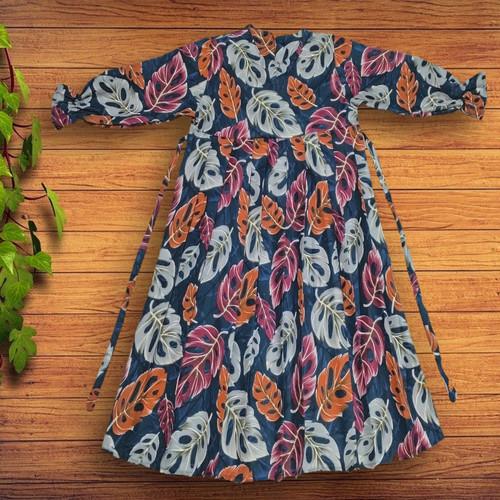 Foto Produk Baju Gamis anak Rempel plus kerudung - Janbol navy, M dari YKS_STORE01