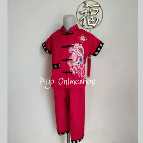 Foto Produk Baju Setelan Cheongsam Imlek Anak Laki Laki (Naga) - 4 dari Piyo Onlineshop