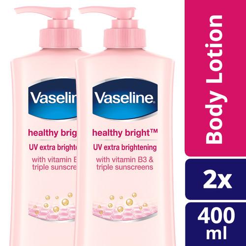 Foto Produk Vaseline Lotion Healthy White Uv Lightening 400ml Twin Pack dari Unilever Official Store