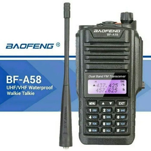 Foto Produk Baofeng BF-A58 HT Dualband Waterproof Ori Baru BFA58 Tahan Air Bofeng dari Hanika Radio