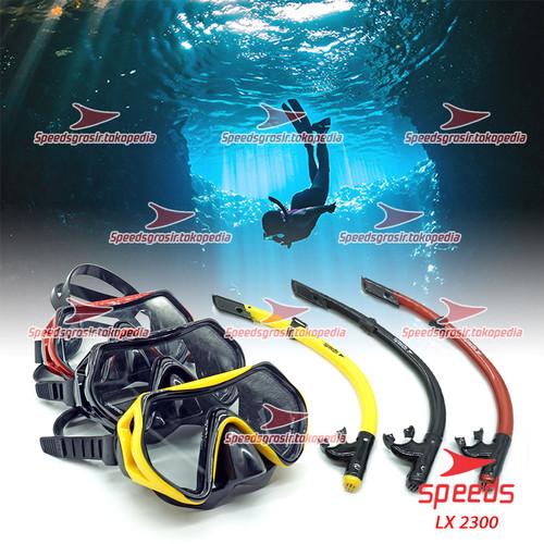 Foto Produk SNORKEl SNORKLING ALAT SELAM DIVING ORIGINAL SPEEDS 2300 - Hitam dari Speeds Official Store