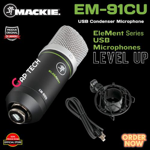 Foto Produk MACKIE EM 91CU / EM91CU / EM 91 CU USB Condenser Microphone Original dari GAP TECH OFFICIAL