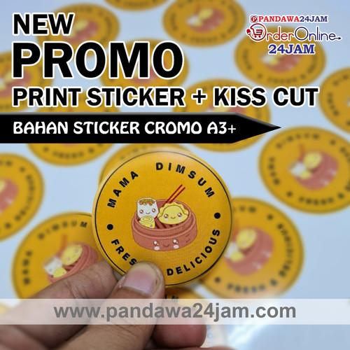 Foto Produk CETAK STICKER A3+ (Print + Cutting)   LABEL KEMASAN   BAHAN CROMO - Tanpa Laminasi dari Pandawa 24 Jam