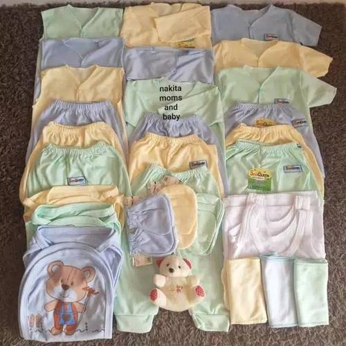 Foto Produk Terlaris Paket Perlengkapan Baju Bayi Lengkap Murah Newborn SNI 33pcs - Polos dari Grosir Baju Bayi dan Hamil