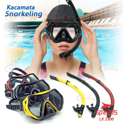 Foto Produk Kacamata renang Snorkeling PVC Snorkel Diving Speeds 017-2300 - Hitam dari calary