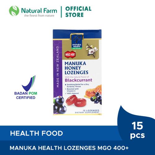 Foto Produk Manuka Health MGO 400+ With Blackcurrant Lozenges dari Natural Farm