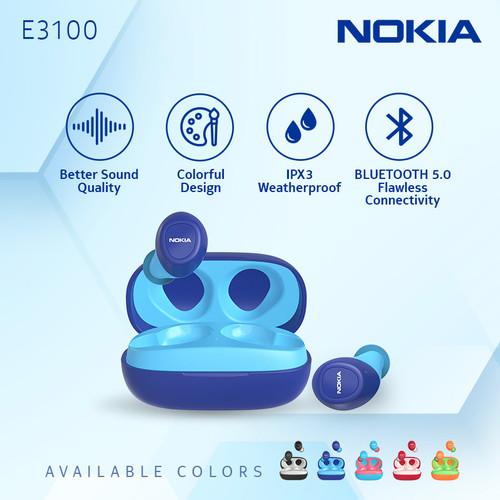 Foto Produk Nokia Essential True Wireless TWS Earphone E3100 - Blue dari Nokia Audio Official Store