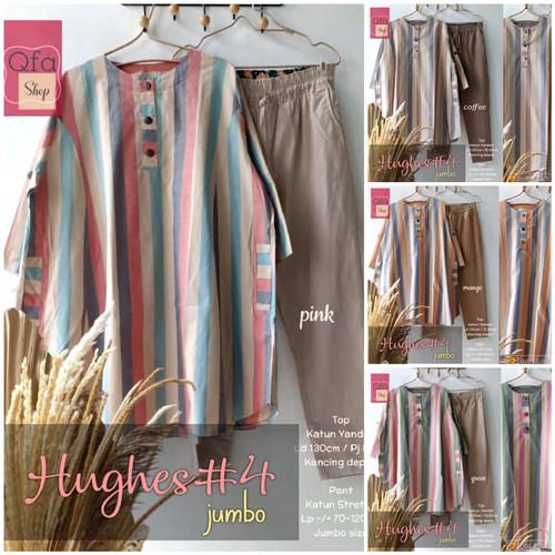 Foto Produk New Hughes #4 Set Setelan Celana Wanita Jumbo Baju Kerja Big Size dari Ilyassa Shop