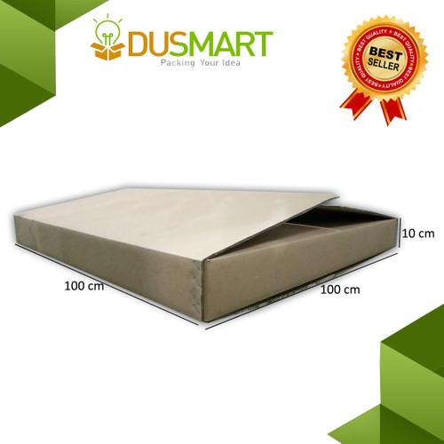 Foto Produk Kardus 100x100x10/ Karton/Box/Kotak Partisi/Furniture Polos - Dusmart dari DUSMART Official Store