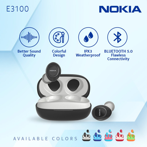 Foto Produk Nokia Essential True Wireless TWS Earphone E3100 - Black dari Nokia Audio Official Store