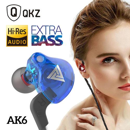 Foto Produk QKZ AK6 Headset Earphone Sport In-Ear Stereo Super Bass + Microphone - Biru dari Unitech Official