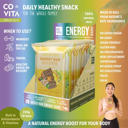 Foto Produk Covita Superfood Energy Bars Box - Mixed Box Fruit & Nut Bars (10pcs) dari Covita