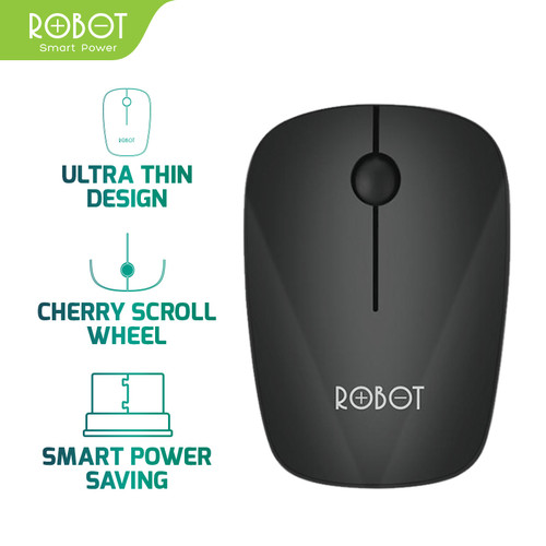 Foto Produk ROBOT M220 2.4G Wireless Optical Mouse - Garansi Resmi 1 Tahun - Hitam dari ROBOT OFFICIAL SHOP