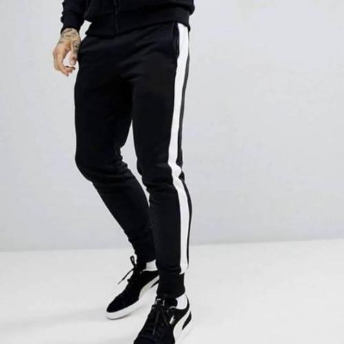 Foto Produk Celana Training Dan Jogger Bahan Scuba - Berkualitas - Termurah - List Putih, M dari EunikeFashion_id