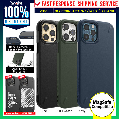Foto Produk Case iPhone 12 Pro Max 12 Pro 12 Mini Ringke Onyx Softcase Casing - 12 Mini, Dark Green dari Unicase Store