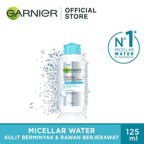 Foto Produk Garnier Skin Care Micellar Water Blue - 125 ml dari Garnier Official