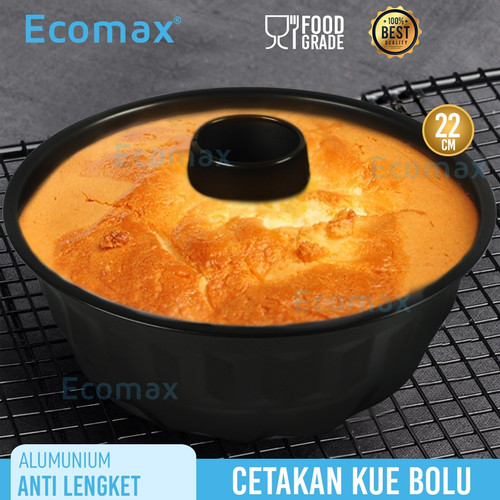 Foto Produk ECOMAX Loyang Kue Bolu 22Cm HA-6040 LYON SERIES Anti Lengket dari Ecomax Official Store