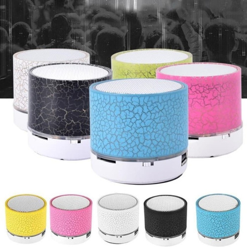Foto Produk ✅FLASH SALE Speaker Mini Bluetooth Portabel Retak Lampu Led Music - Hitam dari JGT OFFICIAL STORE