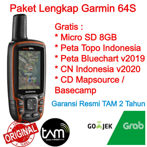 Foto Produk Garmin GPS Map 64S Free Peta Topografi & Bluechart Pacific Indonesia dari Thuraya Official Distribution