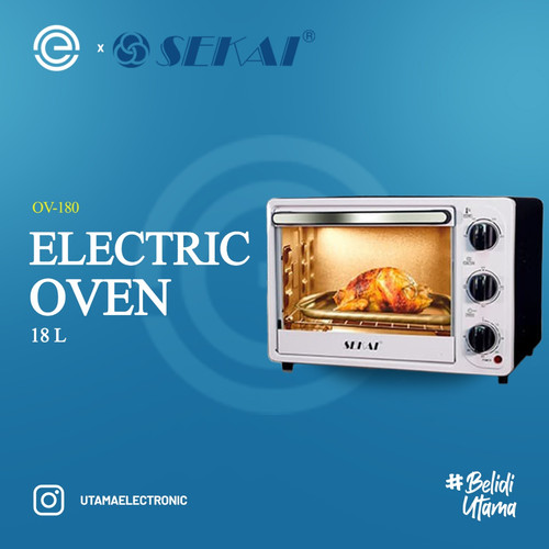 Foto Produk SEKAI Oven Listrik 18 Liter - OV 180 dari UTAMA_ELECTRONIC