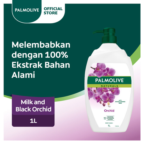 Foto Produk Palmolive Black Orchid & Milk Shower Gel/Sabun Mandi Susu 1L dari Colgate Palmolive