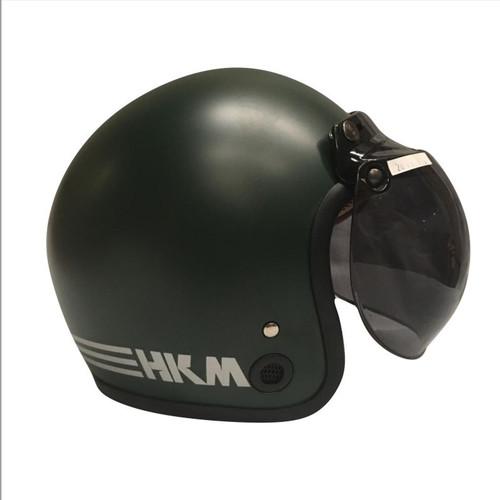 Foto Produk Helm retro HKM line Army doff (free kaca helm) dari GudangHelm