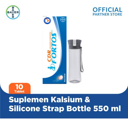 Foto Produk CDR Fortos 10 Tablet & LOCK&LOCK Silicone Strap Bottle 550 ml dari Bayer Health Partner