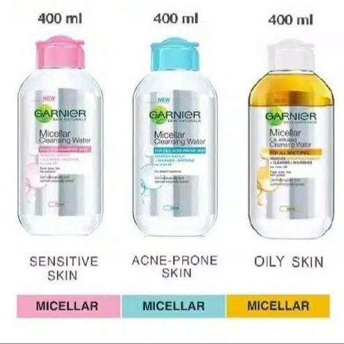 Foto Produk Garnier Micellar Water 400ml Pink / Biru / Kuning Biphase Oil 400 ml - Biru 400ml dari Ultramart88
