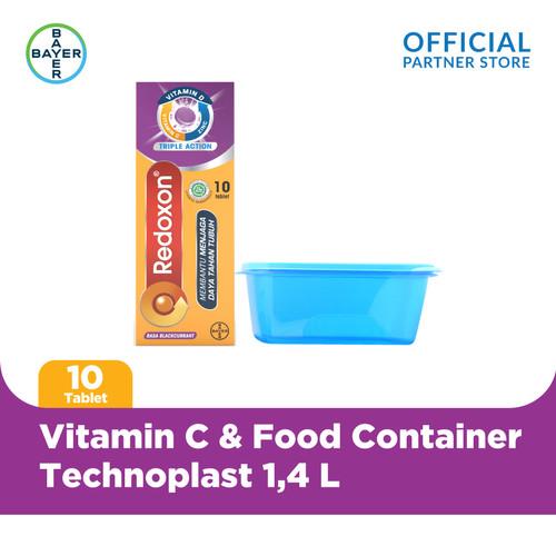 Foto Produk Redoxon Blackcurrant 10 Tablet & Food Container Technoplast 1.4 L dari Bayer Health Partner