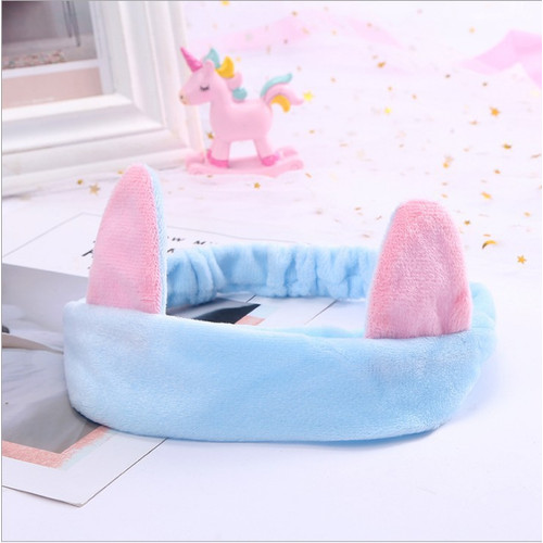 Foto Produk CEHB bando telinga kucing kuping headband korea facial bandana cat ear - Biru Muda dari ecos