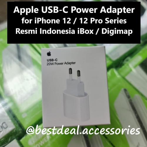 Foto Produk Apple USB-C 20W Power Adapter for iPhone 12 Pro Max Series Original dari bestdeal official