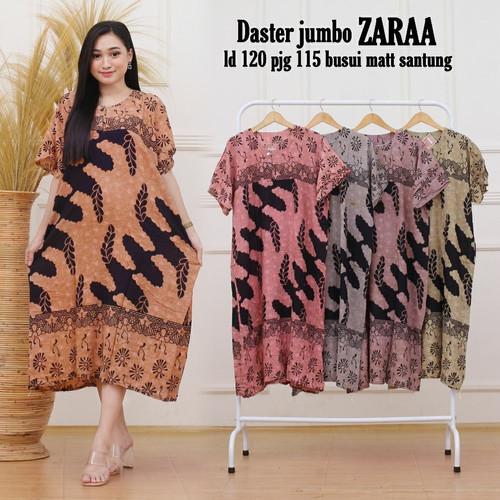Foto Produk Daster Jumbo Batik Kencana Ungu Zara / Baju Tidur Jumbo / Baju Menyusu dari RisqianaBatik