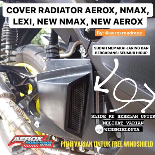Foto Produk cover radiator aerox / lexi - V2 Free WS, AEROX dari Rifqi raiqal ikuy